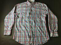Peter Millar Mens Colorful Plaid Front Pocket Button Front Shirt Size Large