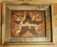 """4/"""" FRIENDS Wood Star Shelve Sitter Standing Primitive country Rustic wine sign"""