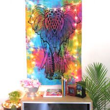 Elephant MultiColor Poster Tapestry Indian Mandala Wall Hanging Hippie DecorGift