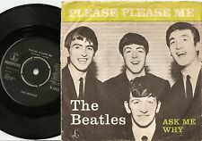 THE BEATLES PLEASE PLEASE ME & ASK ME WHY DANISH 45+PS `63 1st DK SINGLE RELEASE