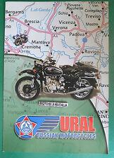 URAL MOTORCYCLE DEPLIANT MOTO SIDECAR BROCHURE PUBBLICITÀ RECLAME PROSPEKT