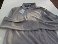 NWT Peter Millar Crown Sport pullover, men's L, tan, rayon blend, top zippered