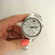 Emporio Armani AR5963 Chronograph Stainles Steel Band Watch Parts Not Working