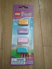 Lego Friends Pack 4 Erasers, new