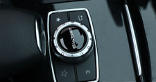 NEW 1 Pcs Black Logo AMG Multimedia Control knob Badge Decal Adhesive Sticker