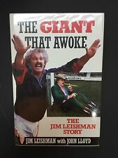 THE GIANT THAT AWOKE JIM LEISHMAN SIGNED FOOTBALL BOOK DUNFERMLINE LEGEND