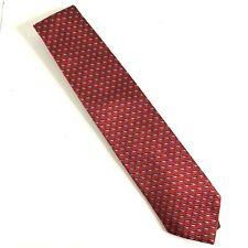 "Ermenegildo Zenga Red Geometric  Silk Neck Tie  56 "" EUC"