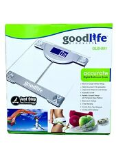 Digital Bathroom Scale 400lb Capacity Tempered Glass Goodlife Products