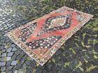 Vintage rug, Hallway rug, Runner rug, Turkish rug, Handmade, Wool   4,1 x 8,3 ft