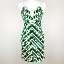 Line + Dot 70's Multi-Color Striped Mini Dress Size M NWT