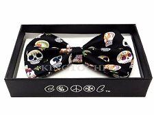 New Tuxedo Color Halloween Skull BowTie Neckwear Adjustable Men's Bow Tie
