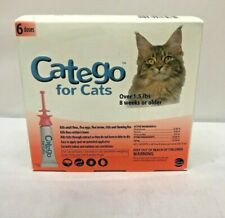 Catego Fast-Acting Flea  Tick Treatment For Cats/Kittens (Over 1.5 lbs), Kills