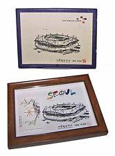【RARE】Seoul 02 World Cup Soccer Stadium Framed Cherry Blossom Shadowbox!FreeShip