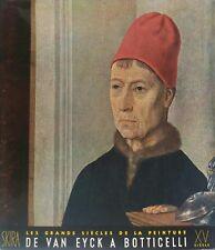 ARGAN - Les Grands Siècle de la Peinture. De Van Eyck à Botticelli. SKIRA