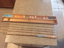 Post War Split Bamboo Convertible Fly Rod Or Bait Casting Rod In Wood Box Etc .
