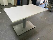 More details for orangebox office bistro canteen tables white/silver 1200mm