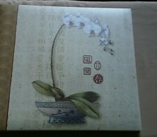 Style & Paper Scrabook Album Orchids and Kanji Brand New in Box