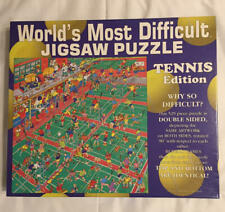 1995 Buffalo Games TENNIS EDITION World's Most Difficult Jigsaw 529 pc puzzle
