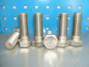 M24 x 70mm Stainless steel set screw bolt Qty 6 DIN931 A4-70