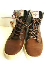 Men's True Religion Camby Leather Brown High Top Sneaker Boots Shoes Sz 13