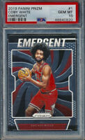 2019-2020 Panini COBY WHITE Prizm Rookie Card RC PSA 10 Gem Mint Chicago Bulls