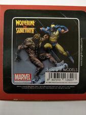 Wolverine Versus Sabretooth  Knight Models Marvel Universe 70mm Rare