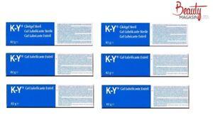 6 x Ky Jelly Lubricating Gel New 82g K-Y Brand Sterile tube Genuine UK Stock