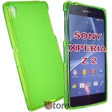 Cover Custodia Per Sony Xperia Z 2 Z2 Verde Retro Opaco Gel TPU