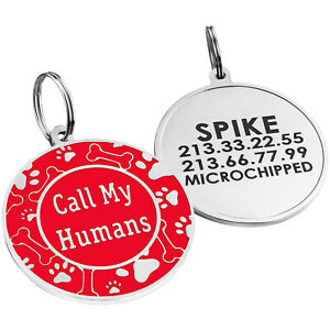 Dog Tags for Dogs Custom Engraved ID Tag Dog Collar Tag for Dogs Personalized