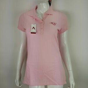 NFL St Louis Rams Football Womens SS Polo Shirt Medium Pink Antigua NWT