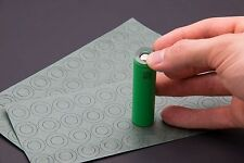 80pcs 18650 Battery Insulator Insulation ring adhesive cardboard paper