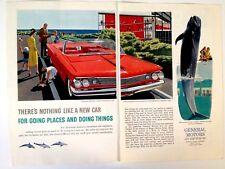 1960 Pontiac Bonneville Convertible Coupe Wide Track Print Ad