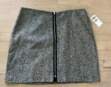 NWT ~ OLD NAVY Women's Mini Skirt, Size 6~ Gray Wool Blend Lined