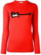 Bella Freud Guitar Star Red Wool Jumper Size Extra Large XL 14 16 Sold Out BNWT