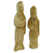 Two (2) Chinese Tang Dynasty Glazed Pottery Figures. Both with COA.