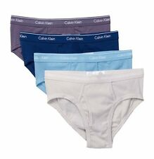 NWT Calvin Klein. Sz M. Men's 4 Pack, Low-Rise Briefs, Multi-Blue, MSRP $39.50.