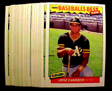 1986 Fleer Basebal Best #5 JOSE CANSECO (RC) ~ 20 CARDS LOT ~ GREAT A'S HITTER