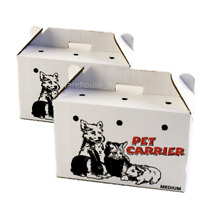 PPI Cardboard Animal Carriers Medium or Large- Fast Del