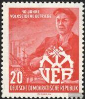 DDR 527Y II (kompl.Ausg.) seltenes Wasserzeichen gestempelt 1956 10 Jahre VEB