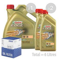 Engine Oil and Filter Service Kit 6 LITRES Castrol EDGE TITANIUM 0w-30 6L