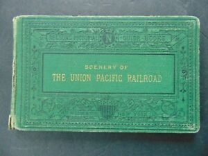 c.1871 - SCENERY OF THE UNION PACIFIC RAILROAD - One Map & Twelve Lithographs