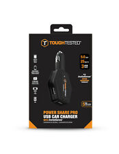 Tough Tested 5 Amp / 3 USB Port Car Charger with Instasense and USB Cable lock