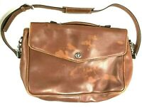 COACH F06457 LightBrown Leather Business Bag Vintage