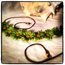 New!! Hand Made Green Daisy Headband St. Pat Power Floral Daisy Hairband Crown