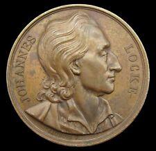 More details for france 1819 john locke philosopher 41mm medal - by caunois