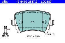 Bremsbelagsatz Scheibenbremse ATE Ceramic - ATE 13.0470-2887.2