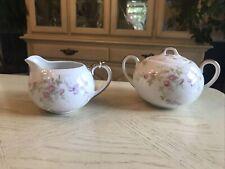 Old Abbey Limoges France Sugar Bowl & Creamer Set