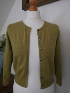 BODEN Ochre 100% Cashmere Knit Cardigan UK 10