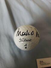 Mark O'Meara tournament game used golf ball Titleist 4 signed JSA COA Q39878 PGA