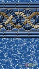 """18ft x 45ft Oval South Beach 20yr 52"""" Uni-Bead Above Ground Swimming Pool Liner"""